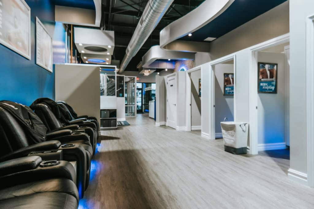 a look inside an existing cryotherapy franchise business
